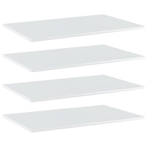 Dream Living Hyllplan 4 st vit högglans 80x50x1,5 cm spånskiva