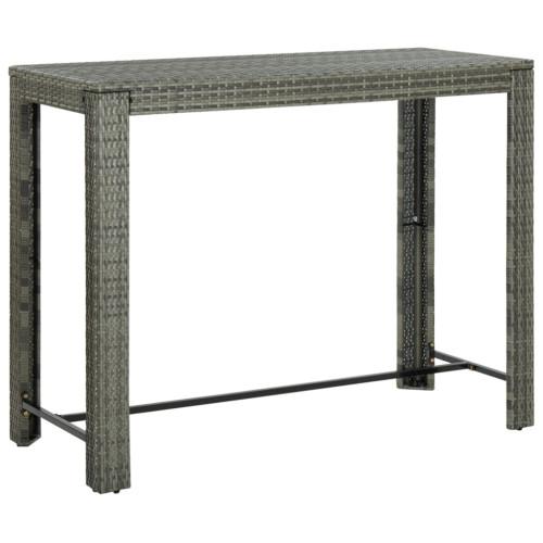 Dream Living Barbord för trädgården grå 140,5x60,5x110,5 cm konstrotting