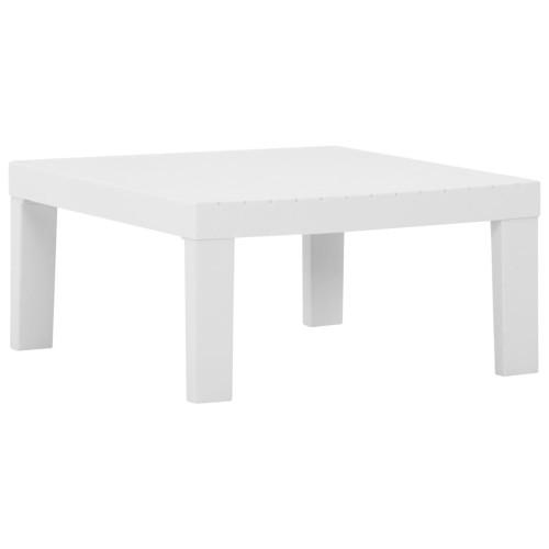 Dream Living Loungebord för trädgården plast vit