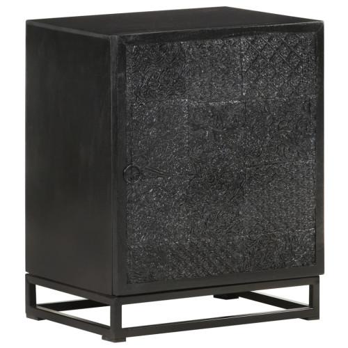Dream Living Nattduksbord svart 40x30x50 cm massivt akaciaträ och mangoträ