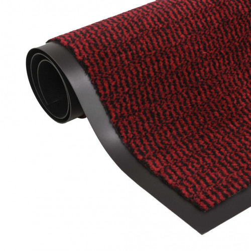 vidaXL Dörrmatta rektangulär tuftad röd 40x60 cm