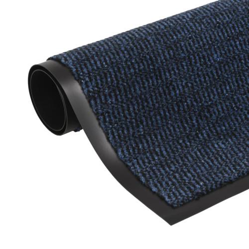 vidaXL Dörrmatta rektangulär tuftad blå 80x120 cm
