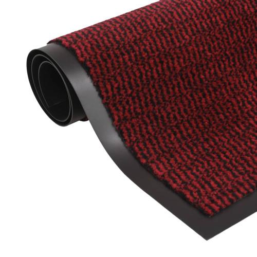 vidaXL Dörrmatta rektangulär tuftad röd 90x150 cm