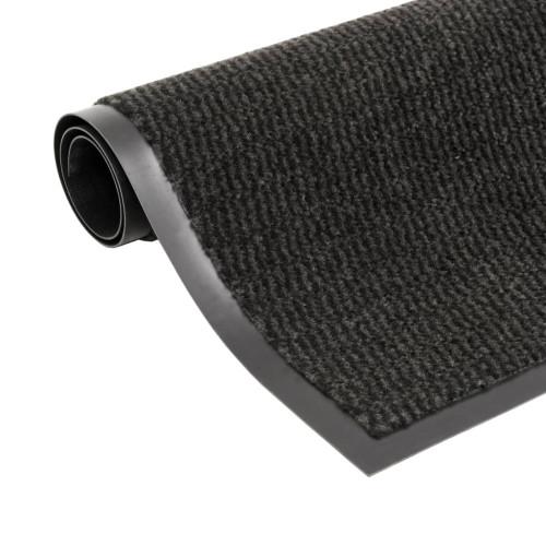 vidaXL Dörrmatta rektangulär tuftad svart 120x180 cm