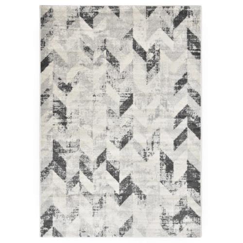 vidaXL Matta grå och vit 80x150 cm PP