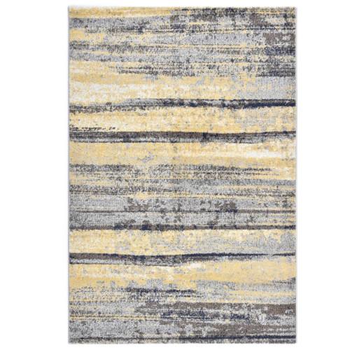 vidaXL Matta grå och beige 80x150 cm PP