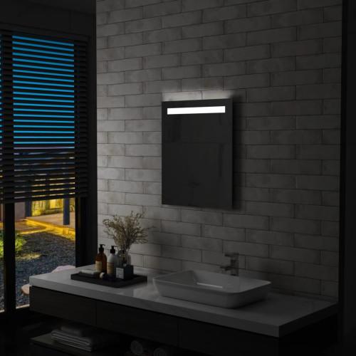 vidaXL Badrumsspegel LED 50x60 cm
