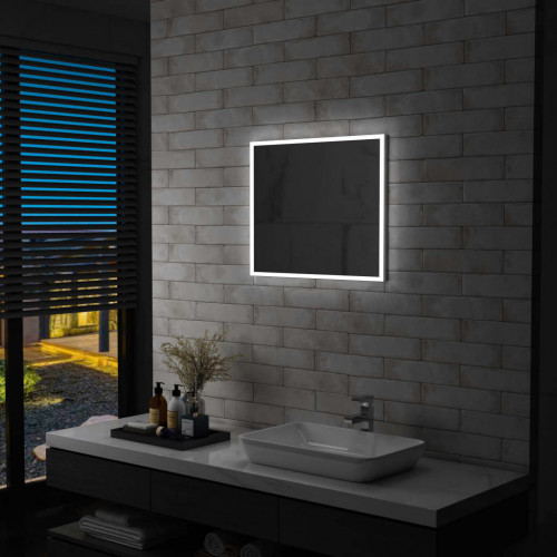 vidaXL Badrumsspegel LED 60x50 cm