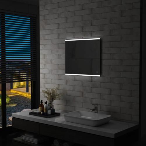 vidaXL Badrumsspegel LED med touch-sensor 60x50 cm