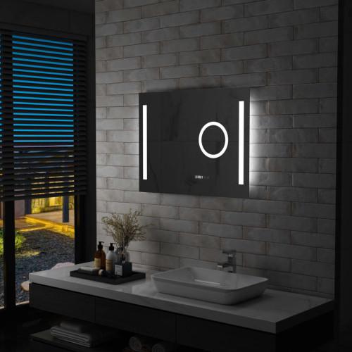 vidaXL Badrumsspegel LED med touch-sensor 80x60 cm