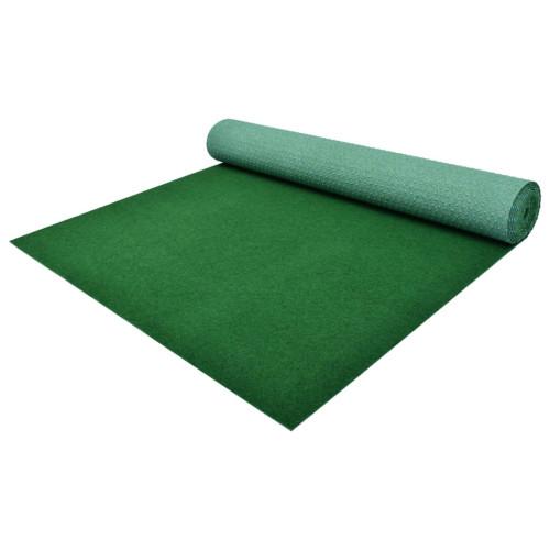 vidaXL Konstgräs med halkskydd PP 2x1 m grön