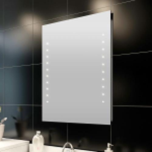 vidaXL Badrumsspegel med LED-lampor 50 x 60 cm (L x H)