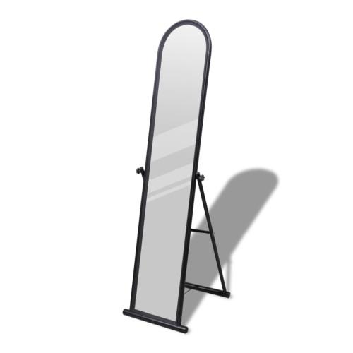 vidaXL Fristående spegel 152 cm svart