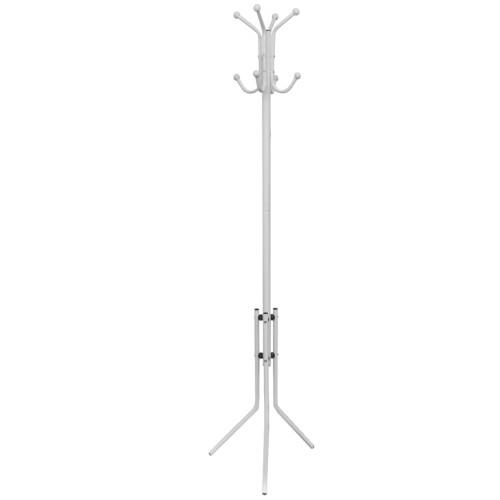 vidaXL Klädhängare i vit metall