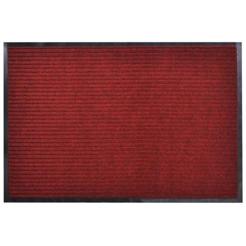 vidaXL Dörrmatta PVC Röd 90 x 60 cm