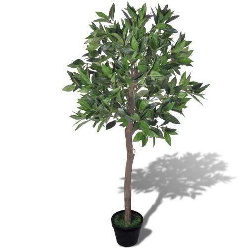 vidaXL Konstgjort lagerträd med kruka, 120 cm