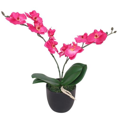 vidaXL Konstväxt Orkidé med kruka 30 cm röd
