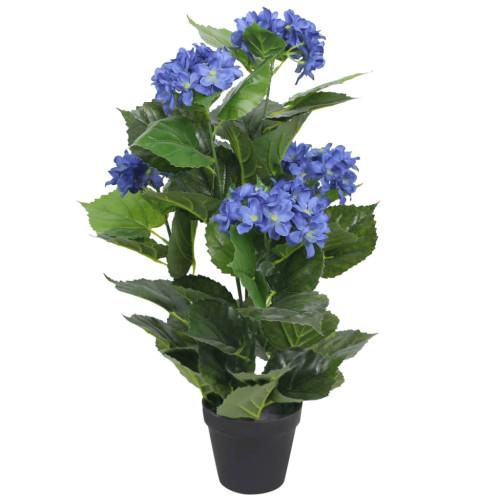 vidaXL Konstväxt Hortensia med kruka 60 cm blå