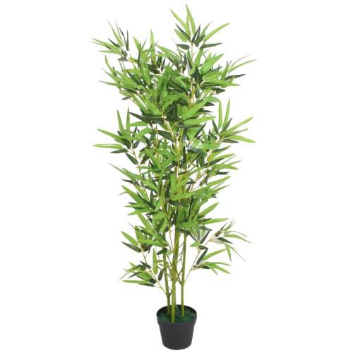 vidaXL Konstväxt Bambu med kruka 120 cm grön