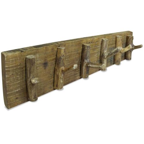 vidaXL Klädhängare återvunnet massiv trä 60x15 cm