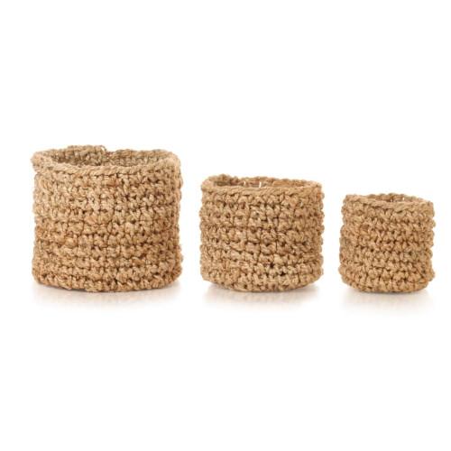 vidaXL Förvaringskorgar 3 st handgjord jute naturlig