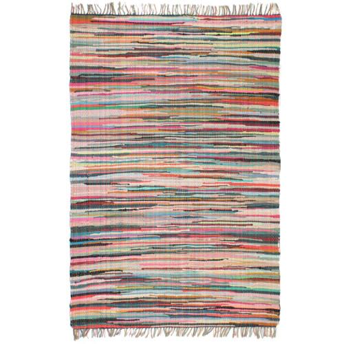 vidaXL Handvävd matta Chindi bomull 80x160 cm flerfärgad