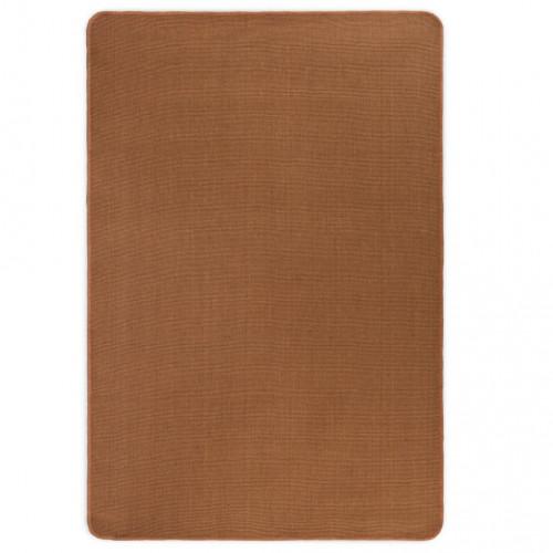 vidaXL Jutematta med latexundersida 70x130 cm brun
