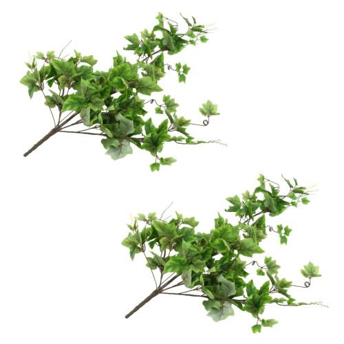vidaXL Konstgjorda blad vindruva 2 st grön 90 cm