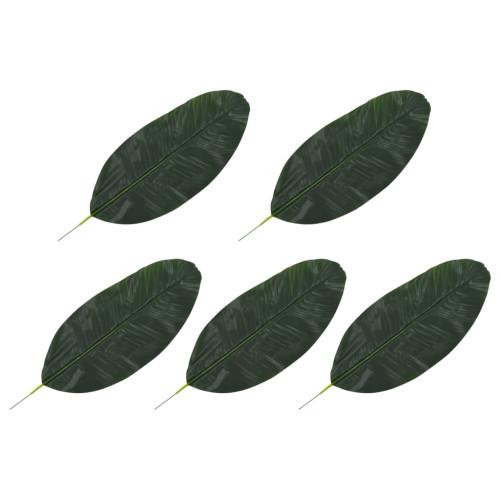 vidaXL Konstgjorda blad bananträd 5 st grön 50 cm