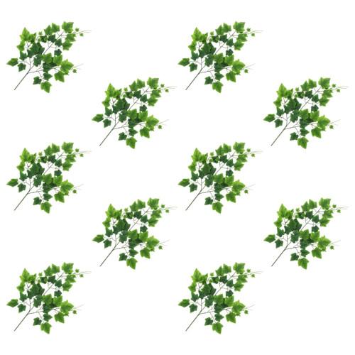 vidaXL Konstgjorda blad vindruva 10 st grön 70 cm