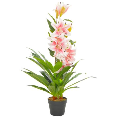 vidaXL Konstväxt Lilja med kruka 90 cm rosa