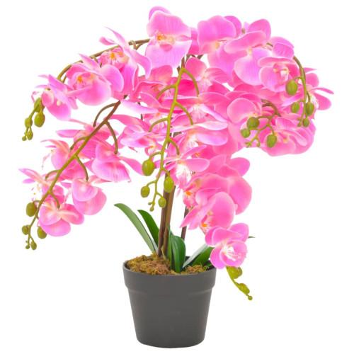 vidaXL Konstväxt Orkidé med kruka 60 cm rosa