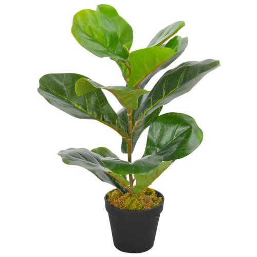 vidaXL Konstväxt Fiolfikus med kruka 45 cm grön