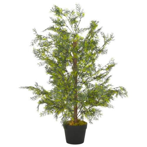 vidaXL Konstväxt Cypressträd med kruka 90 cm grön