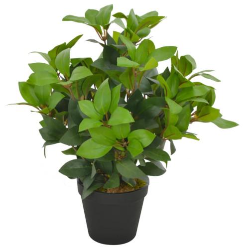 vidaXL Konstväxt Lagerträd med kruka 40 cm grön