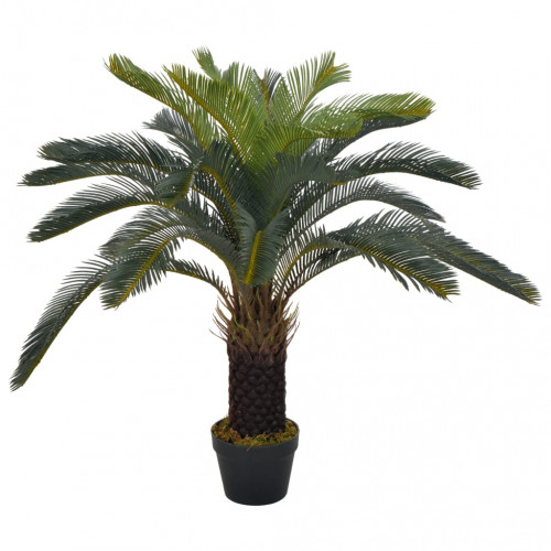 vidaXL Konstväxt Cycas med kruka 90 cm grön