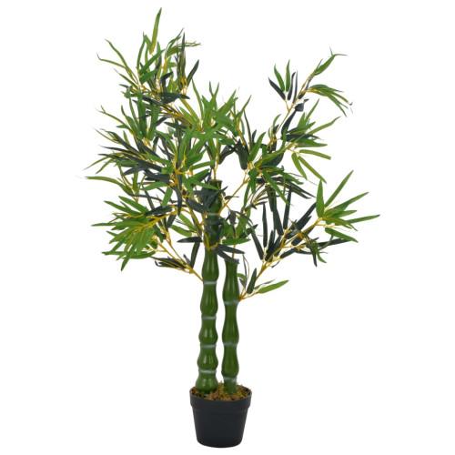 vidaXL Konstväxt Bambu med kruka 110 cm grön