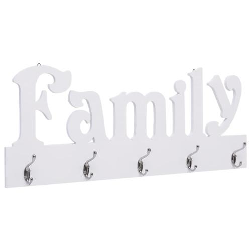 vidaXL Väggkrokar FAMILY 74x29,5 cm