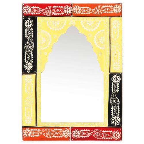 vidaXL Handmålad spegel 40x55 cm massivt mangoträ