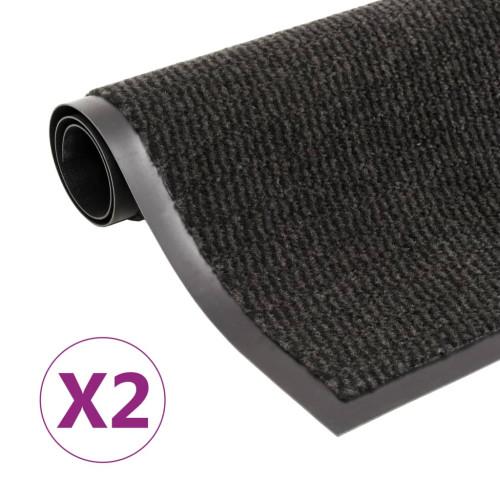 vidaXL Dörrmattor 2 st rektangulär tuftad 120x180 cm svart