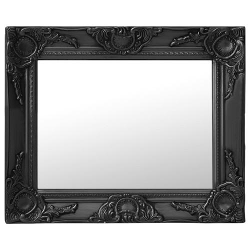 vidaXL Väggspegel barockstil 50x40 cm svart