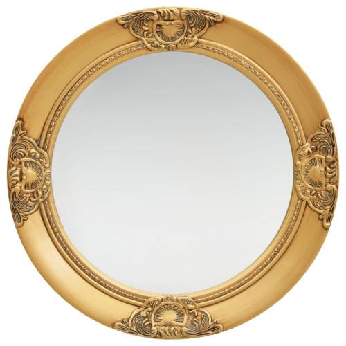 vidaXL Väggspegel barockstil 50 cm guld