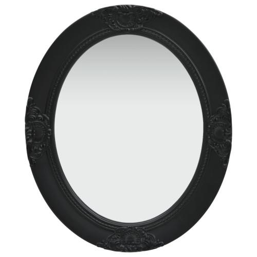 vidaXL Väggspegel barockstil 50x60 cm svart