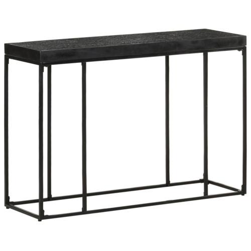 Dream Living Konsolbord svart 110x35x76 cm massivt akaciaträ och mangoträ