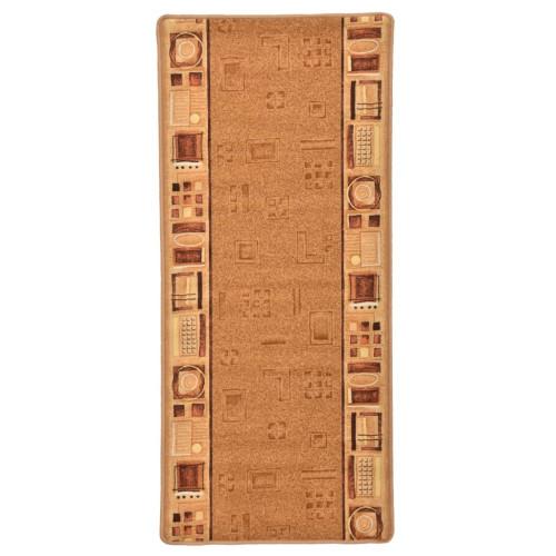 vidaXL Halkfri gångmatta beige 67x120 cm