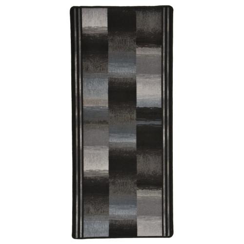 vidaXL Halkfri gångmatta svart 67x200 cm