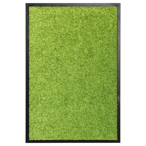 vidaXL Dörrmatta tvättbar grön 40x60 cm