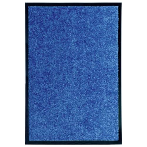 vidaXL Dörrmatta tvättbar blå 40x60 cm