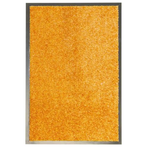 vidaXL Dörrmatta tvättbar orange 40x60 cm