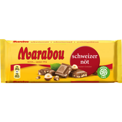 Marabou Marabou Schweizernöt 100 g